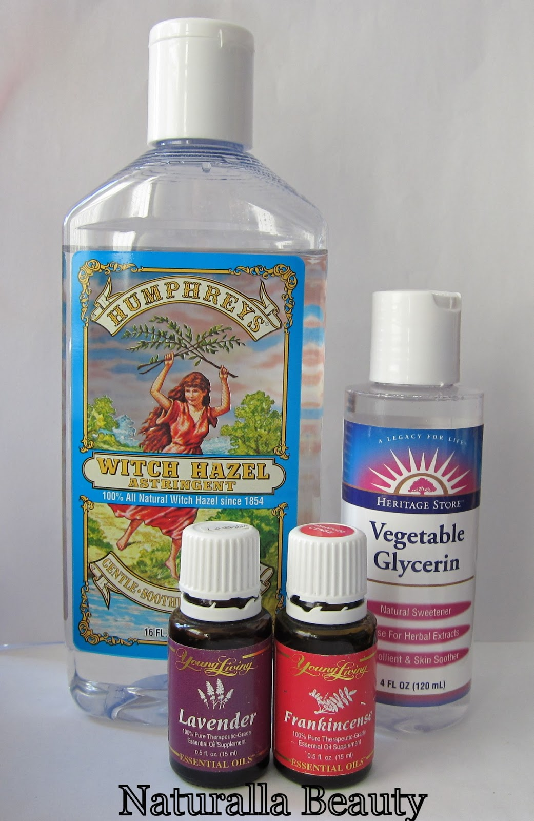 DIY Witch Hazel & Glycerin Toner - Naturalla Beauty