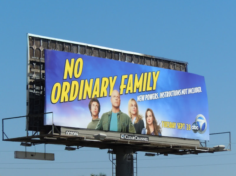 No Ordinary Family billboard