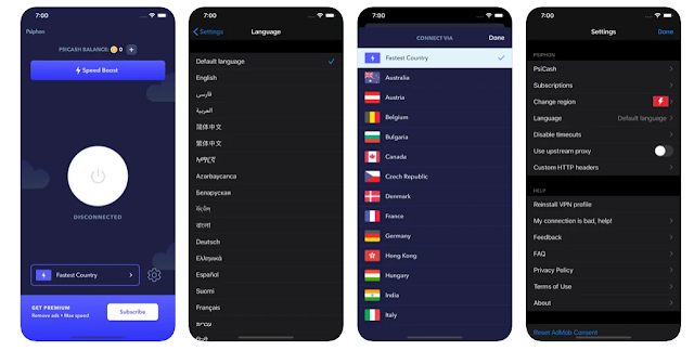 Psiphon 1.0.52 IPA file for iOS/iPhone
