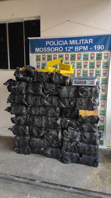 Polícia Militar apreende mais de 650 kg de maconha em Mossoró, RN