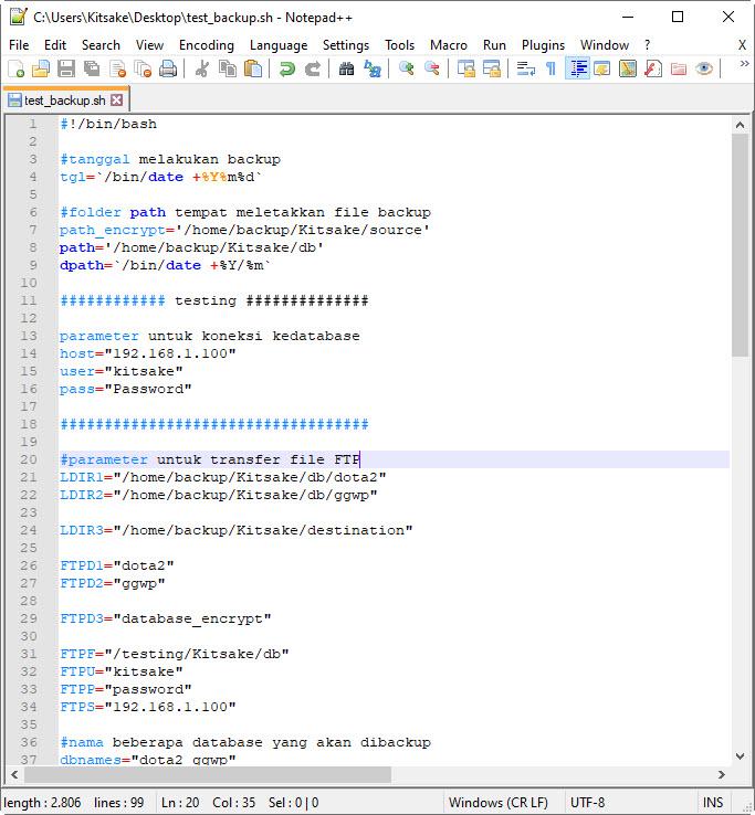 create bash on notepad ++