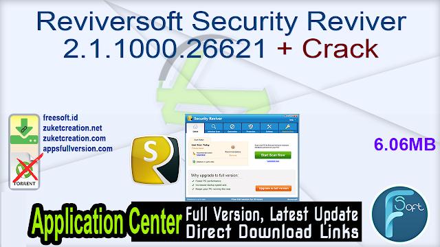 Reviversoft Security Reviver 2.1.1000.26621 + Crack