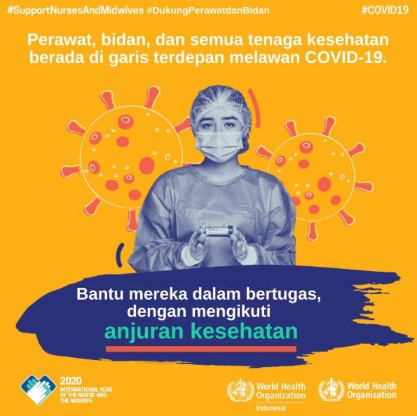 Poster Tentang Besarnya Jasa Dokter, Perawat, Bidan, dan Semua Tenaga Kesehatan dalam Melawan COVID19