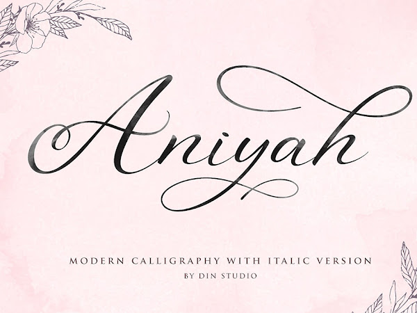 Aniyah  Script Calligraphy Font Free Download
