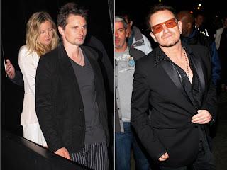 Bono, Edge y Larry en la fiesta de cumpleaños de Julian Lennon 2
