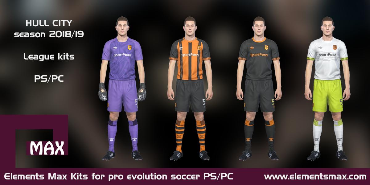 d03bb27d531 Elements MAX Kits: Hull City PES Kits 2018/19