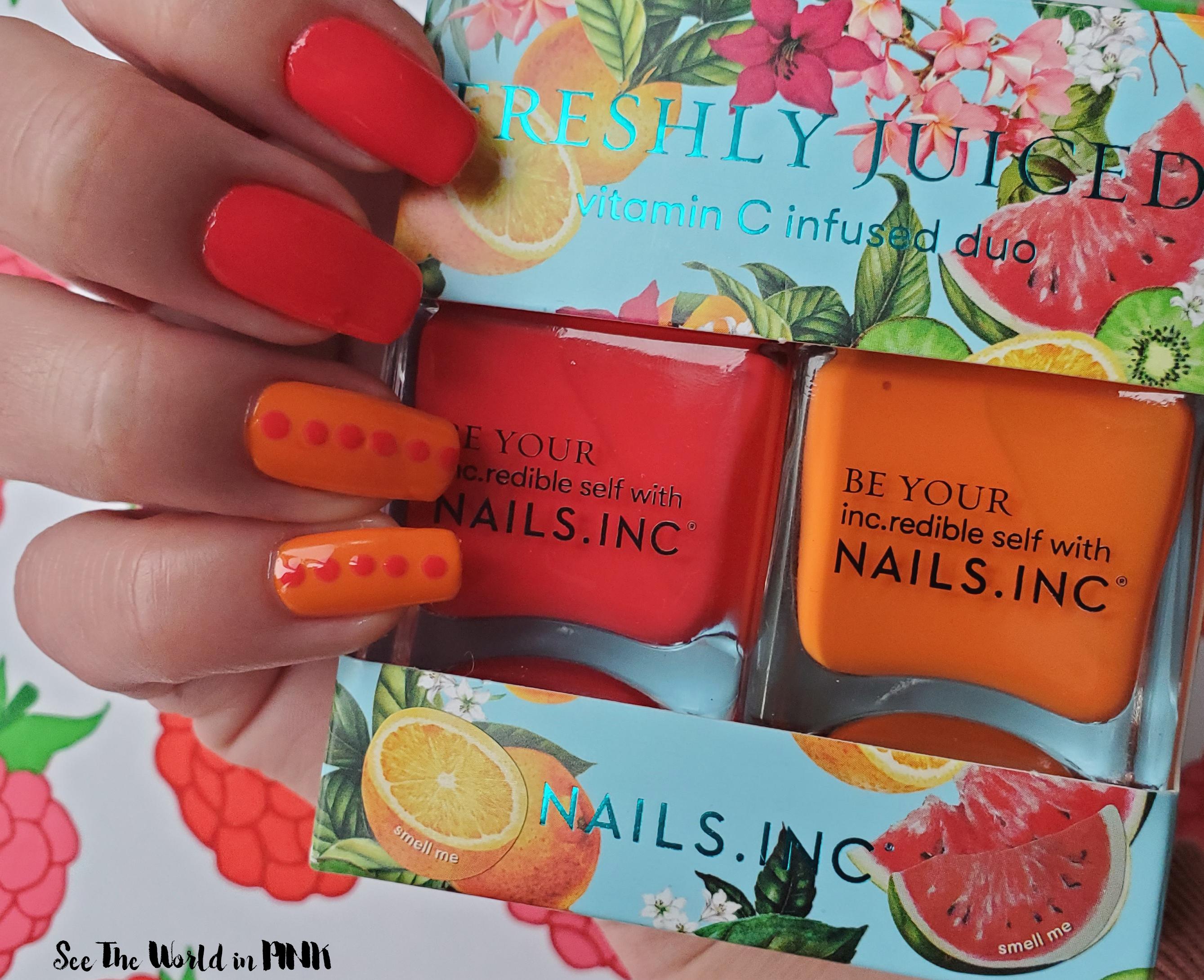 Manicure Monday - Nails Inc. Freshly Juiced Nail Polish Duo
