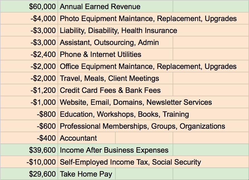 PHOTO LOVECAT: Why $60,000 Revenue = $30,000 Income