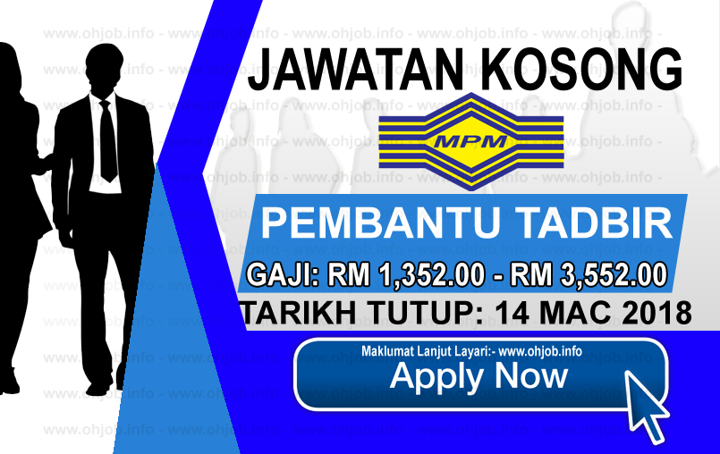 Jawatan Kerja Kosong MPM - Majlis Peperiksaan Malaysia logo www.ohjob.info mac 2018