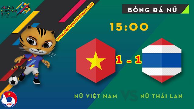 Seagames 29 - Bóng đá nữa | Tuyển Việt Nam cầm hòa 1 - 1 với tuyển Thái Lan