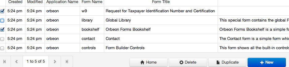 The new Duplicate button shown on the Form Builder Summary page