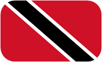Rounded flag of Trinidad and Tobago