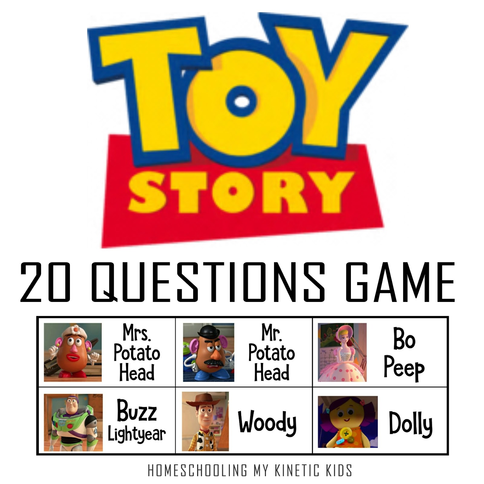 Toy Story 20 Questions Game