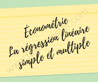 Cours Économétrie La régression linéaire simple et multiple