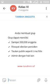 Grup Telegram 20 ribu anggota