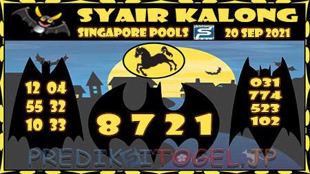 Syair Kalong Togel Singapura Senin 20-09-2021