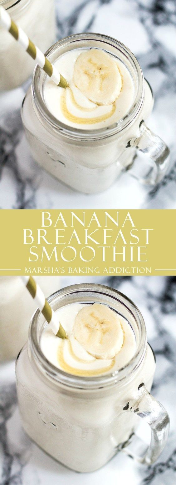 BANANA BREAKFAST SMOOTHIE #bananarecipes #breakfast #breakfastrecipes #breakfastsmoothie #lunchrecipes