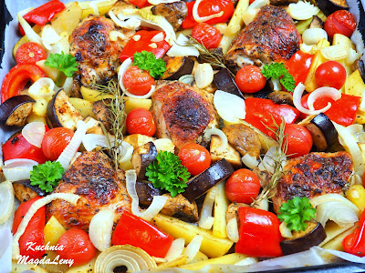 Udka pieczone z warzywami