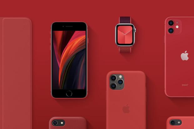 Chuỗi Product Red của Apple bao gồm nhiều thiết bị và phụ kiện khác nhau.