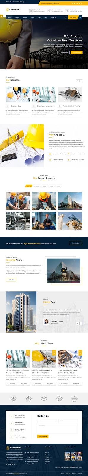 Premium Construction and Architecture WordPress Theme