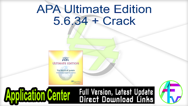 APA Ultimate Edition 5.6.34 + Crack