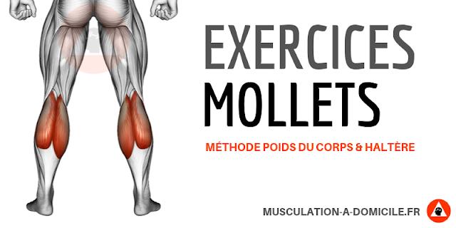 musculation à domicile exercice musculation des mollets poids de corps et haltère à la maison