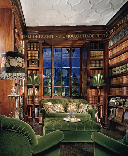 Dramatic Rich Wood Tall Bookcases Holds A Serious Collection Of Books Francine Coffey