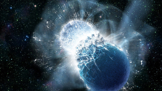 colisão de estrelas de neutrons