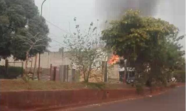 Posadas :  Daños materiales tras un incendio