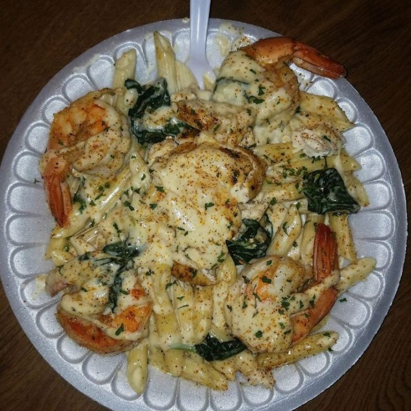 Shrimp & Spinach Alfredo
