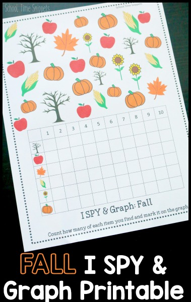 Fall Counting Preschool Printable