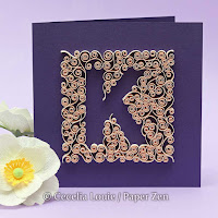 Quilling Letter K Monogram Tutorial Pattern