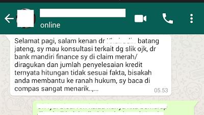 Bank Mandiri Finance Saya Diclaim Merah