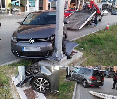 Τροχαίο ατύχημα στην παραλιακή της Ηγουμενίτσας (+ΦΩΤΟ)