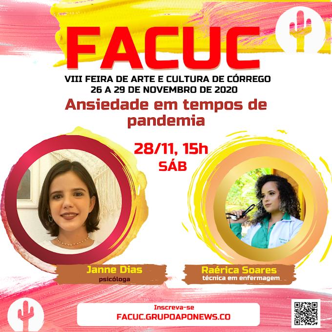 FACUC 2020 terá palestra sobre ansiedade em tempos de pandemia