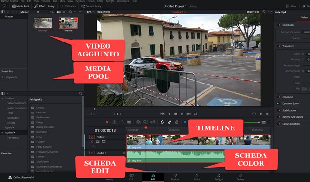 aggiungere-video-media-pool-davinci-resolve