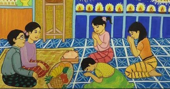 မိဘကုိလုပ္ေက်ြးေသာ သားသမီးတိုင္း လက္ေတြ႔ခံစားရမည့္ အက်ဳိးတရား (၁၂) ပါး