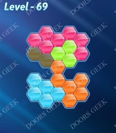 Block! Hexa Puzzle [5 Mania] Level 69 Solution, Cheats, Walkthrough for android, iphone, ipad, ipod