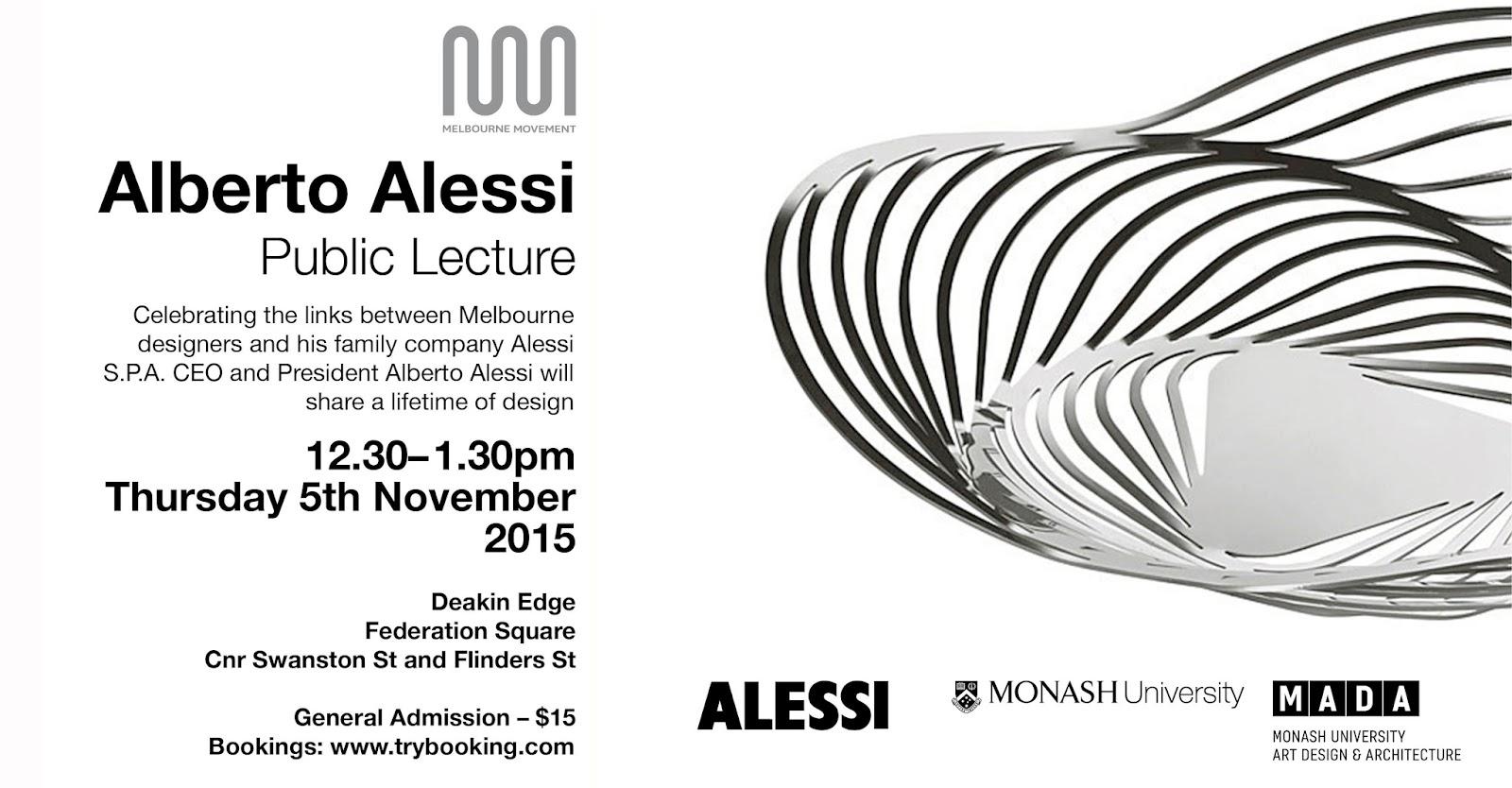 Industrial Design in Victoria Australia: Alberto Alessi