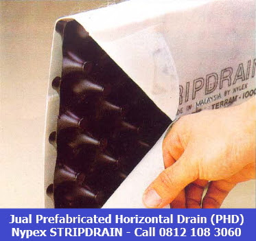 jual Prefabricated Horizontal Drain (PHD) Stripdrain 0812 108 3060