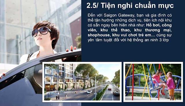 Hệ thống tiện ích hiện đại tại khu chung cư Sài Gòn Gateway