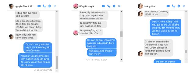 feedback khach hang sau dung Hapanix lam sach mo mau