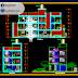 مخطط مشروع عمارة سكنية طابقين اوتوكاد dwg