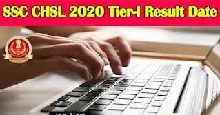 SSC CHSL 2020 Tier-I Result Date