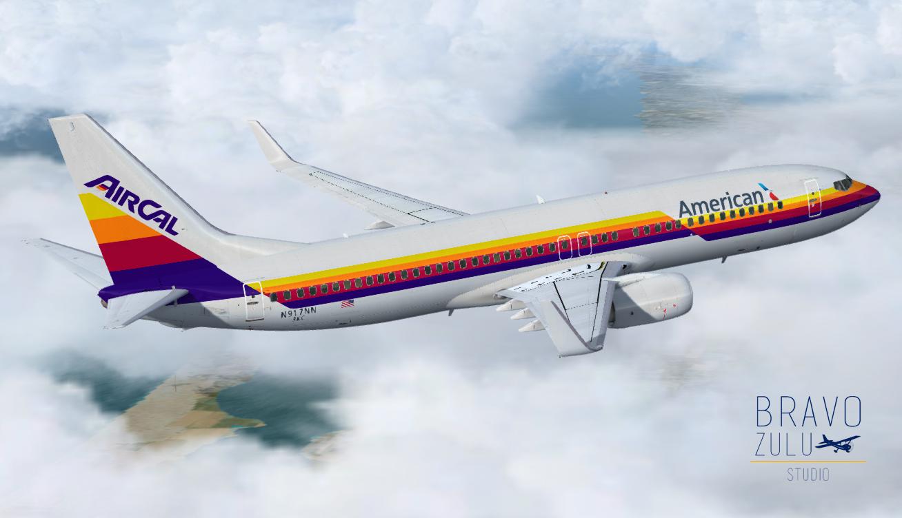 Boeing 737-800 American - AirCal Retro Livery | Bravo Zulu