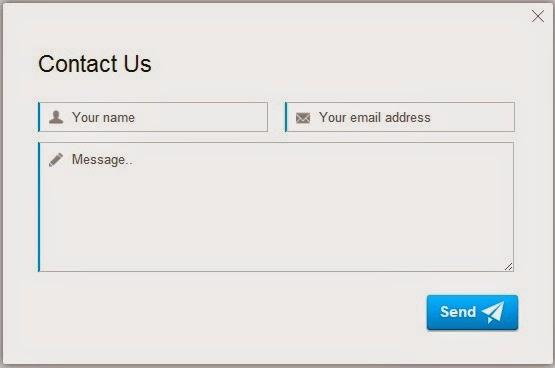 Contact Form atau Contact Us yang biasa kita temukan diberbagai website Cara Membuat Contact Us Melayang Pada Blog