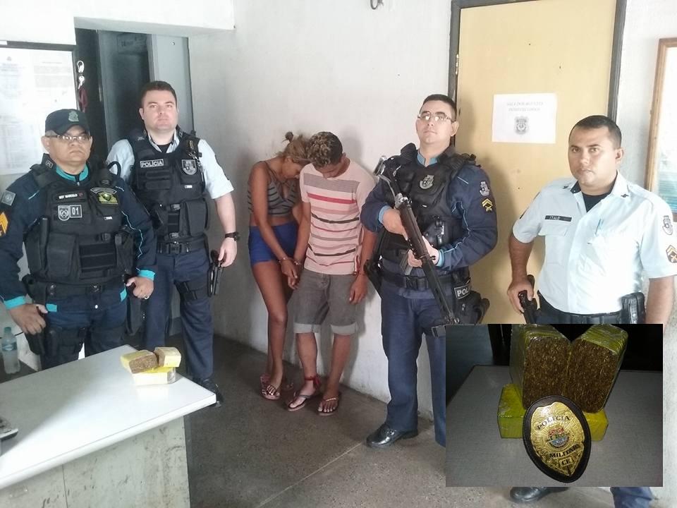 Casal é preso com 1 quilo de maconha