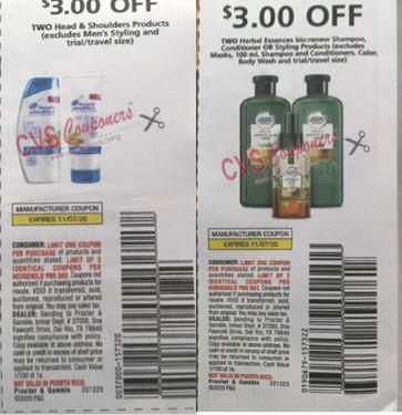 head & shoulders coupons
