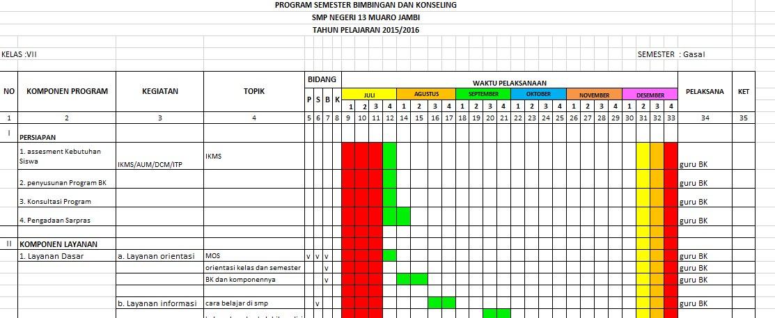 Download Program Kerja Tahunan Bimbingan Dan Konseling Smp Kurikulum 2013 Diens Blog