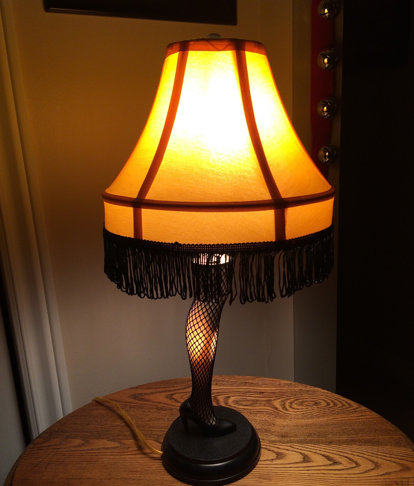 Christmas Story Leg Lamp In Window